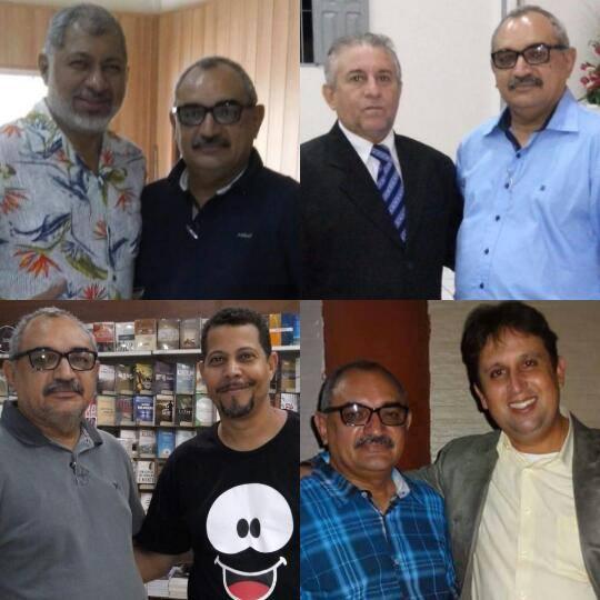 Pastores Jeremias Pereira e Pedro Inácio. Meu amigo Roberval (CPAD) e o cantor Cristiano Borges.