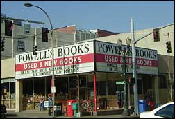 Powell's Books storefront in Portland, Oregon