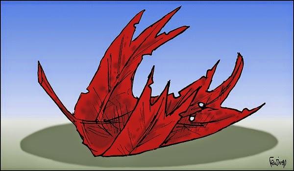 John Fewings: Fallen leaf.