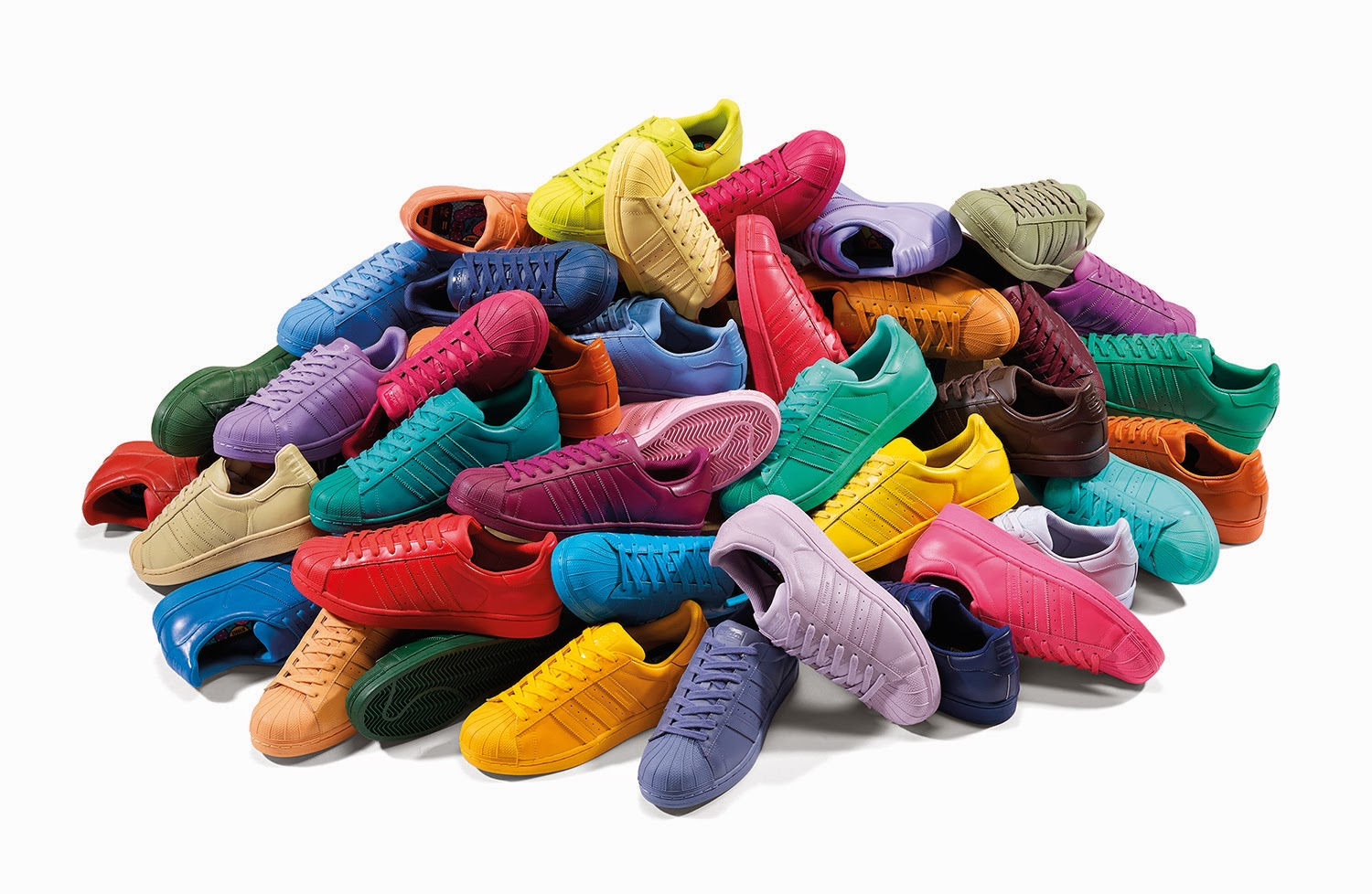 Adidas Originals Superstar Supercolor Collection designed by Pharrell Williams