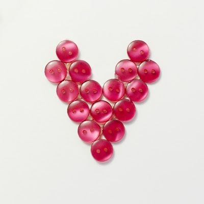 DIY Button Heart & Valentines Card