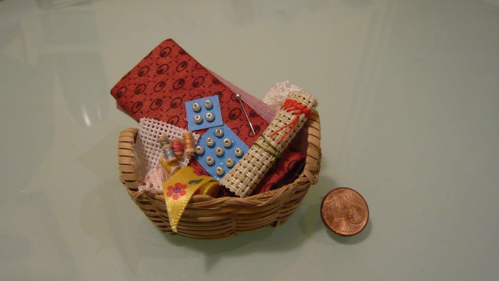 Filiagulla cestas de costura en miniatura - Cesta de costura ...