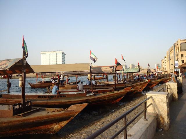Abras at the Dubai Creek