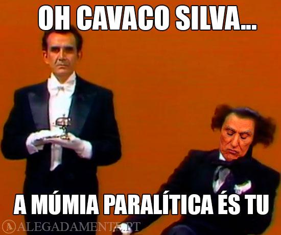 Caricatura de Cavaco Silva - Múmia Paralítica!!! Coisa Horrorosa!!!