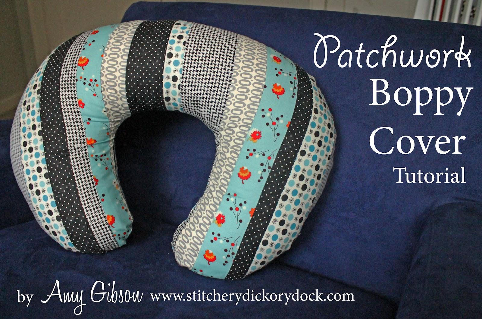 Design Challenge: Patchwork Boppy Cover Tutorial & Sew Lux Fabric : Blog: Design Challenge: Patchwork Boppy Cover ... pillowsntoast.com