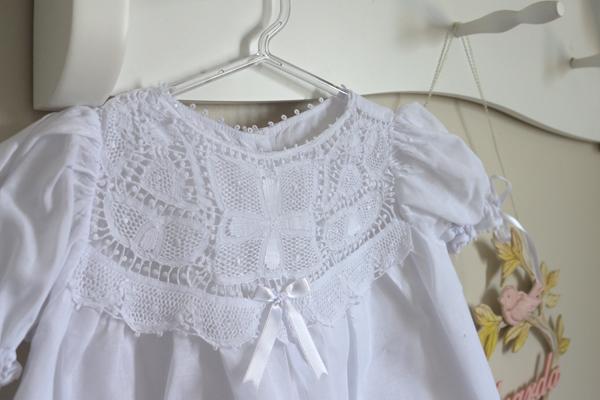 vestido bebê para batizado bordado renascença