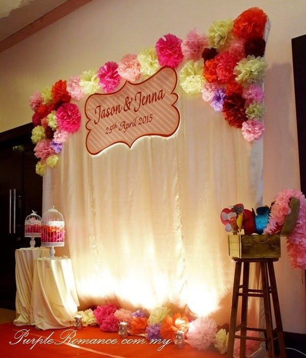 Pom pom flowers decoration at bukit jalil golf country resort bride and groom chair decoration wedding invitation ballroom vivatel hotel junglespirit Gallery