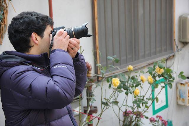 Un español tomando fotos en Seúl