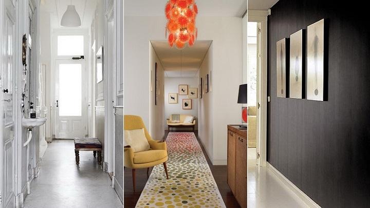 como decorar pasillos largos