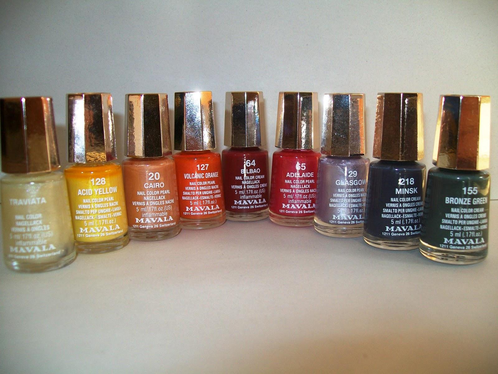 Everyday Colourful: Make up review: Mavala Mini Color nailpolish
