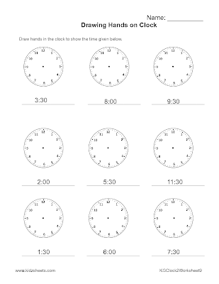 Free Printable Kindergarten Worksheets, Free Worksheets, Kids Maths Worksheets, Maths Worksheets, Kindergarten Time Worksheets, Time, Kindergarten, Kids Time,Clock Worksheets, Clock.