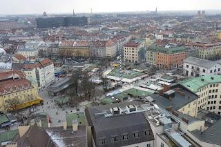 Victualienmarkt desde Peterskirche.