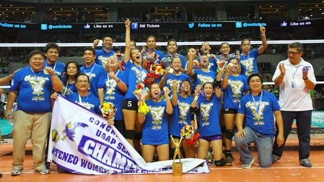ateneo blanks la salle again wins uaap volleyball back to