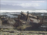 wreck Robben Island Southafrica