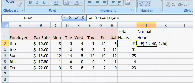 how to calculate overtime pay in excel