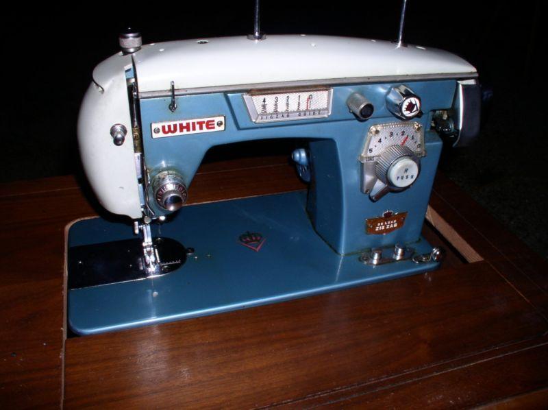 white sewing machine machine