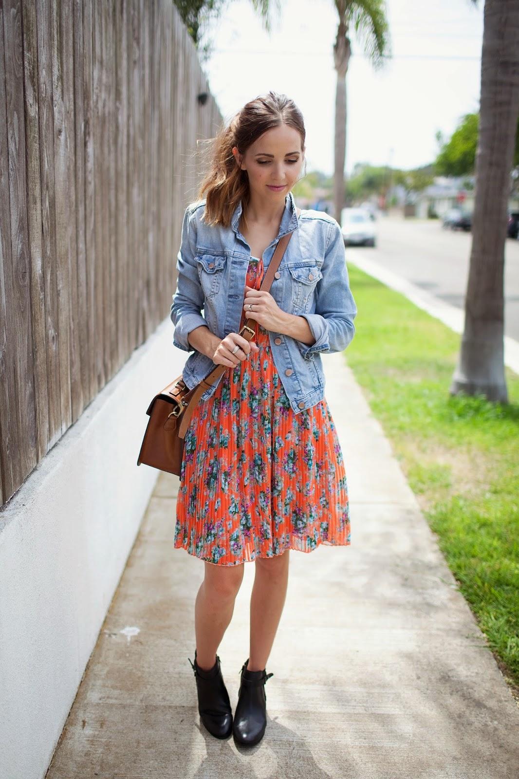 Αποτέλεσμα εικόνας για denim jacket with summer dress