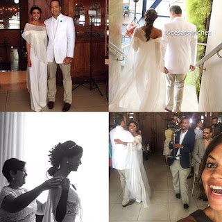 la comunicadora Evelyna Rodríguez se ha casado con su pareja Rafael Santana