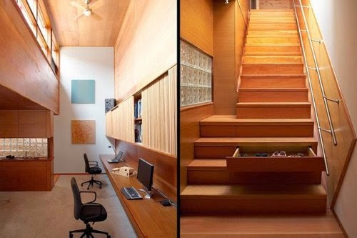 creative stairs for storage