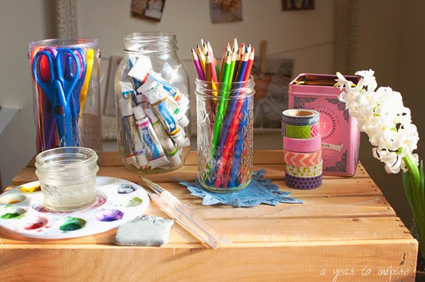 Paint and journalling supplies
