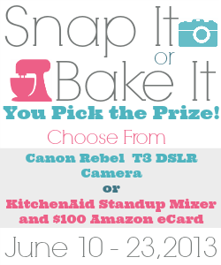 snap it or bake it giveway