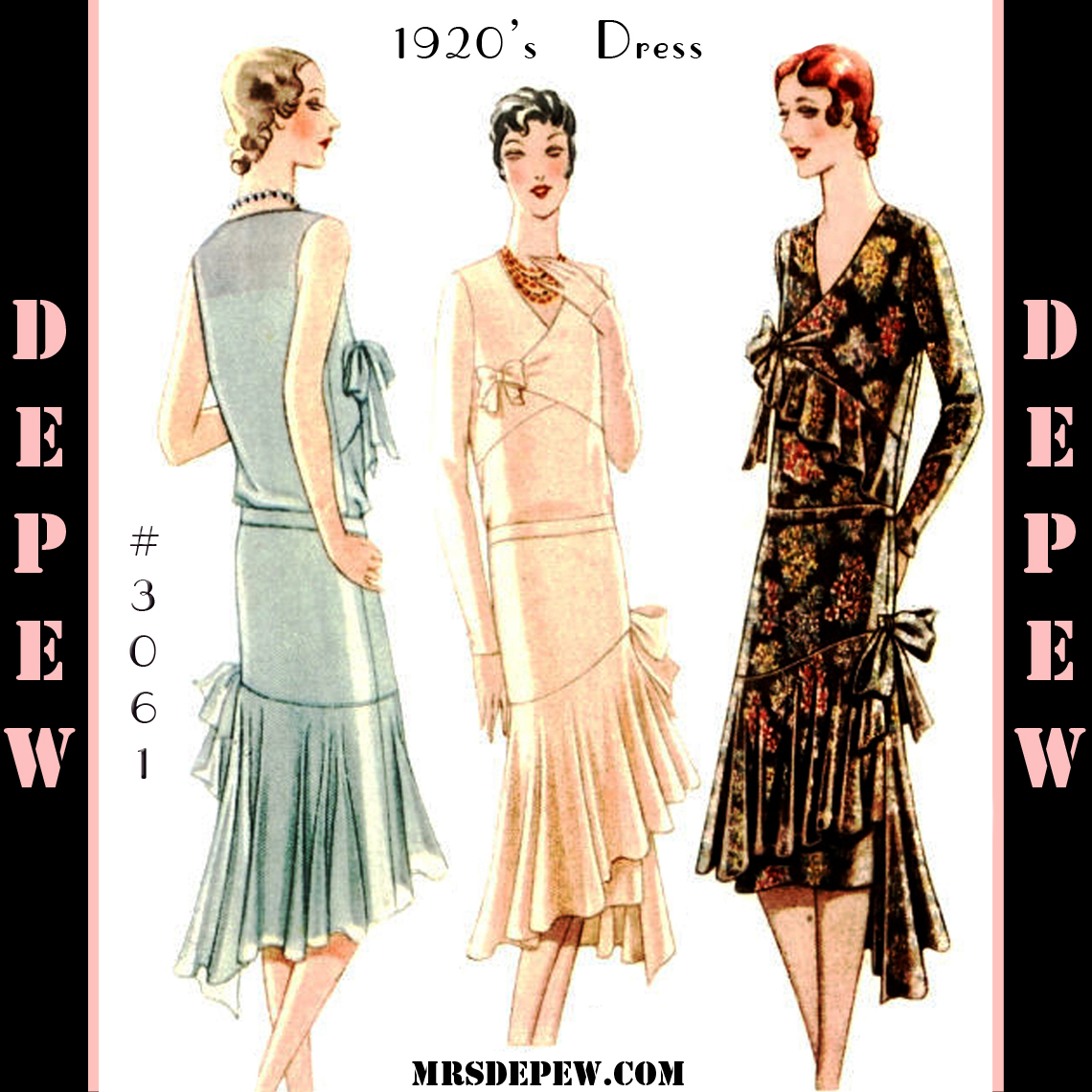A few threads loose lovely 1920s couture and a new pattern release depew 3061 ladies dress sewing pattern jeuxipadfo Choice Image