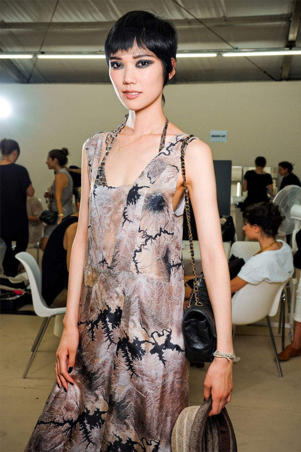 backstage at chanel and armani prive haute couture autumn/winter 2011