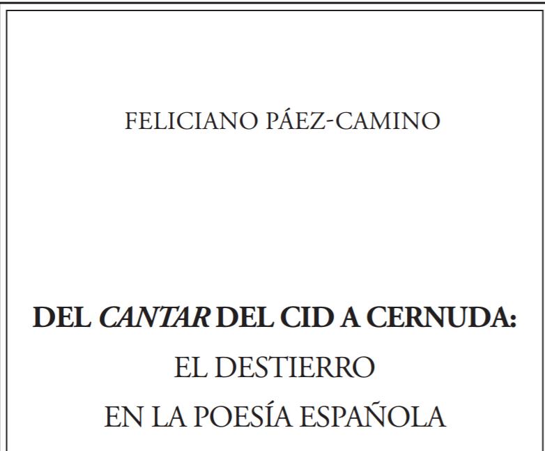 DEL CANTAR DEL CID A CERNUDA
