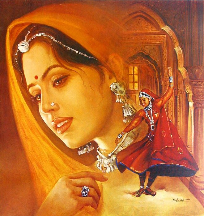 Collections: PAINTING ART OF BEAUTIFUL INDIAN WOMEN
