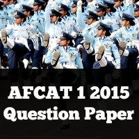 AFCAT 1 2015 Question Paper