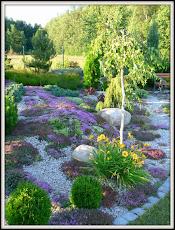 ogród z pagórkami