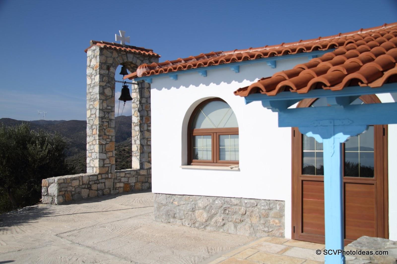 Ag. Nikolaos chapel front door and belfry