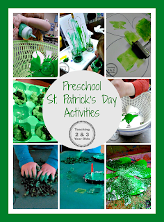 Teaching 2 and 3 Year Olds: Simple and fun hands-on activities for toddlers and preschoolers for St. Patrick's Day!