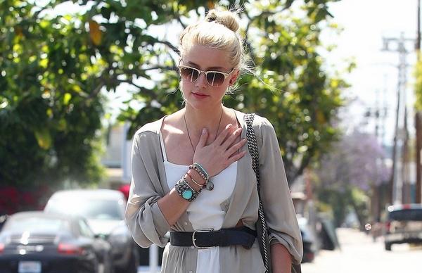 Amber Heard street look