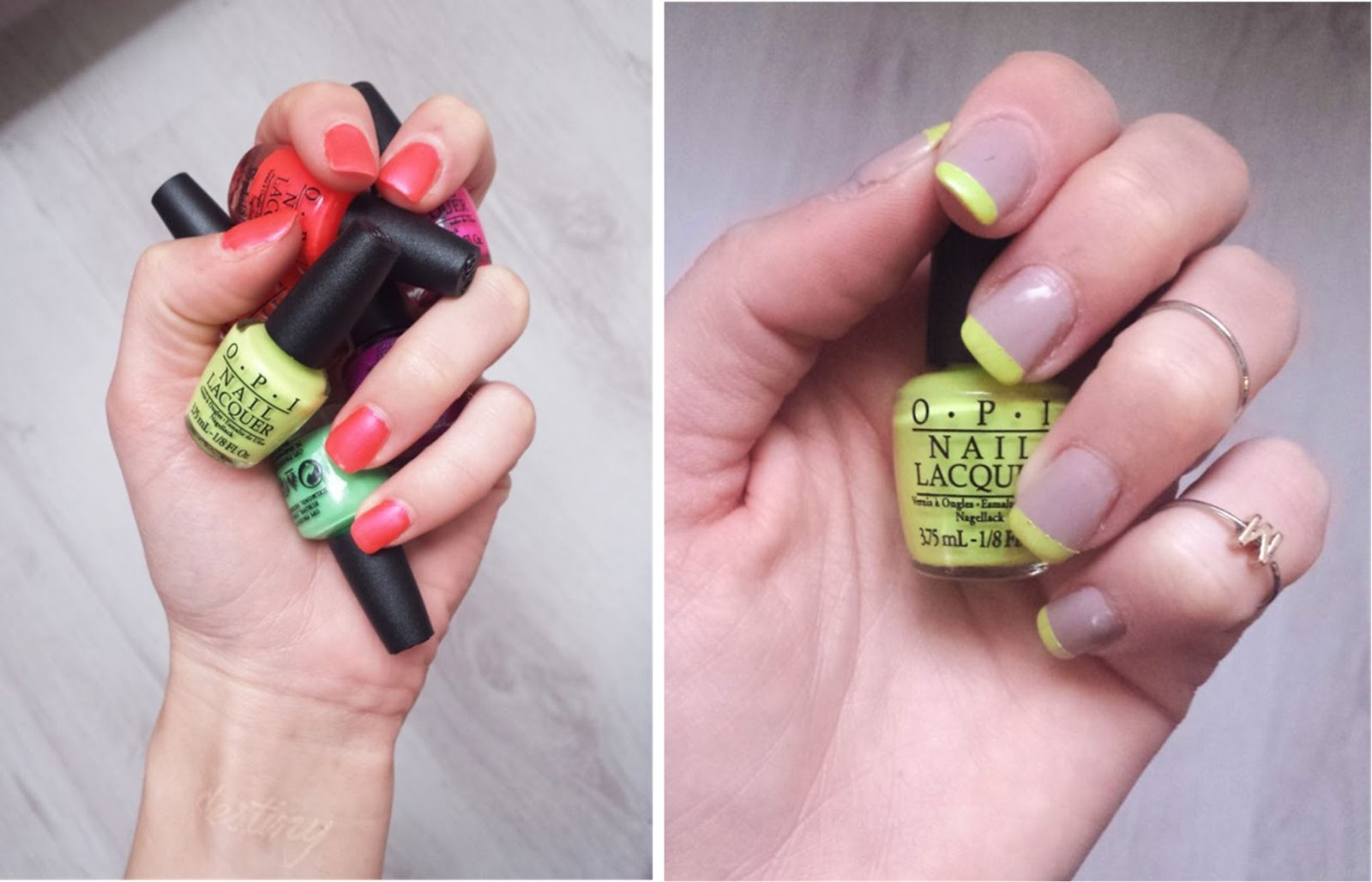 opi little bits of neon, life gave me lemons swatch, down to the core-al swatch, zapikonai, review opi nail polish collection mini
