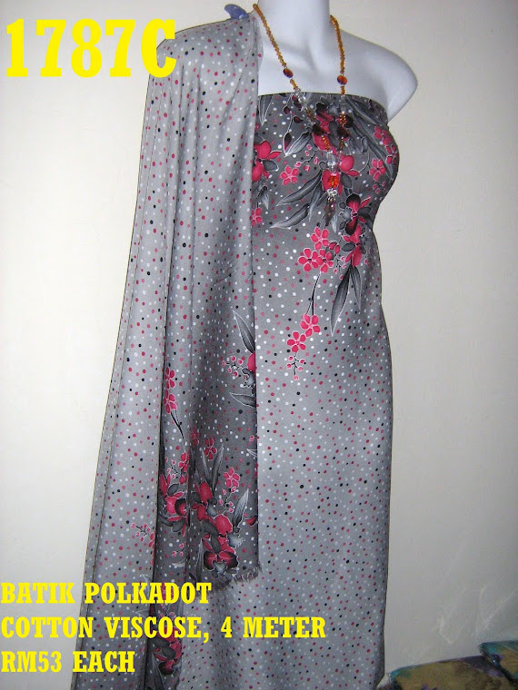 BP 1787C: BATIK POLKADOT COTTON VISCOSE, 4 METER