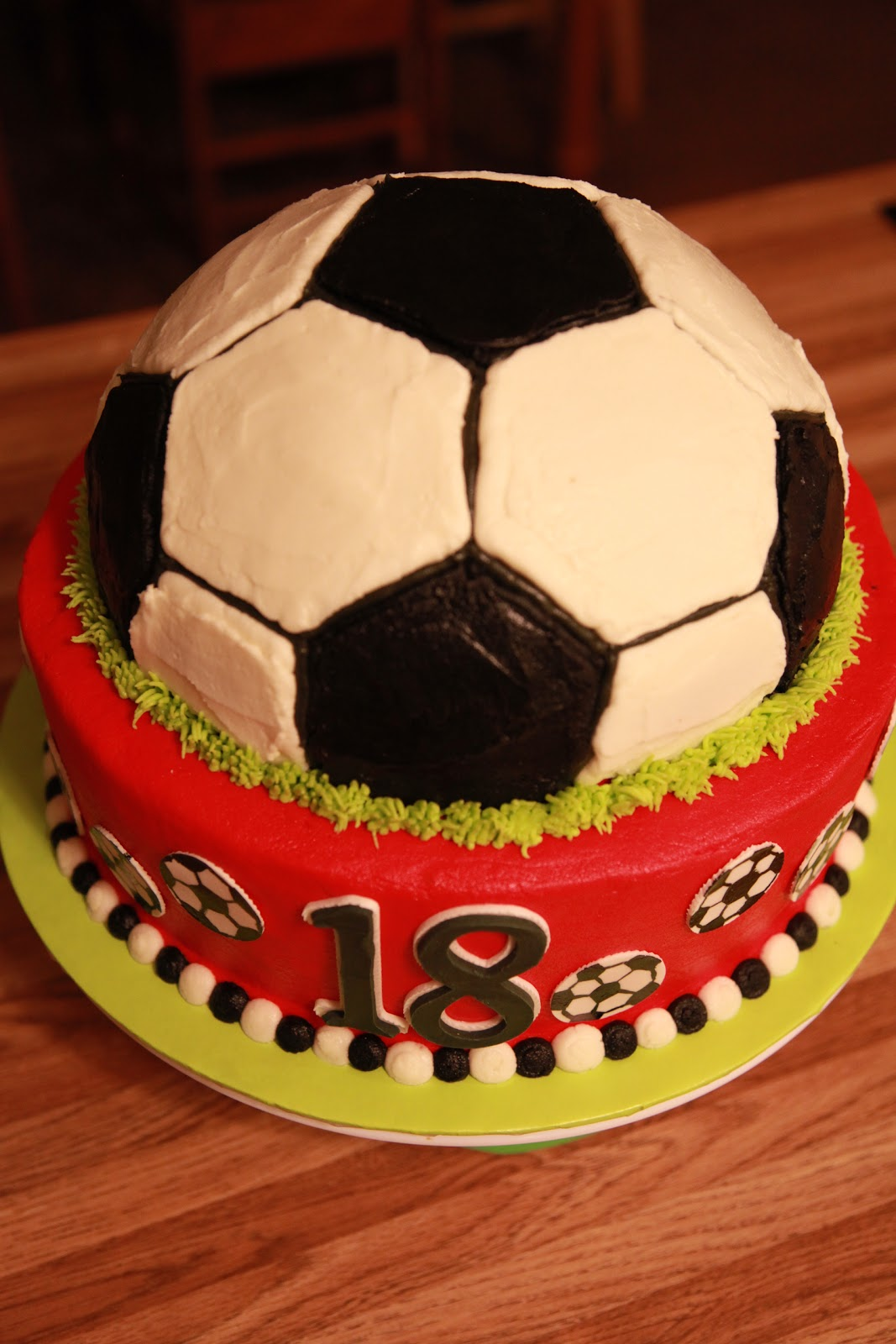 The Cake Box Girls Soccer Ball Birthday Cake
