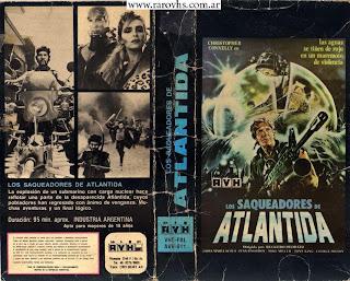 Los Saqueadores de Atlántida = I predatori di Atlantide (1983) de Ruggero Deodato (Caja de cartón cortada,   busco la caja completa!)