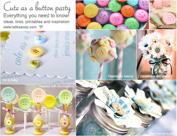 What Do I Need For A Cute As A Button Baby Shower?