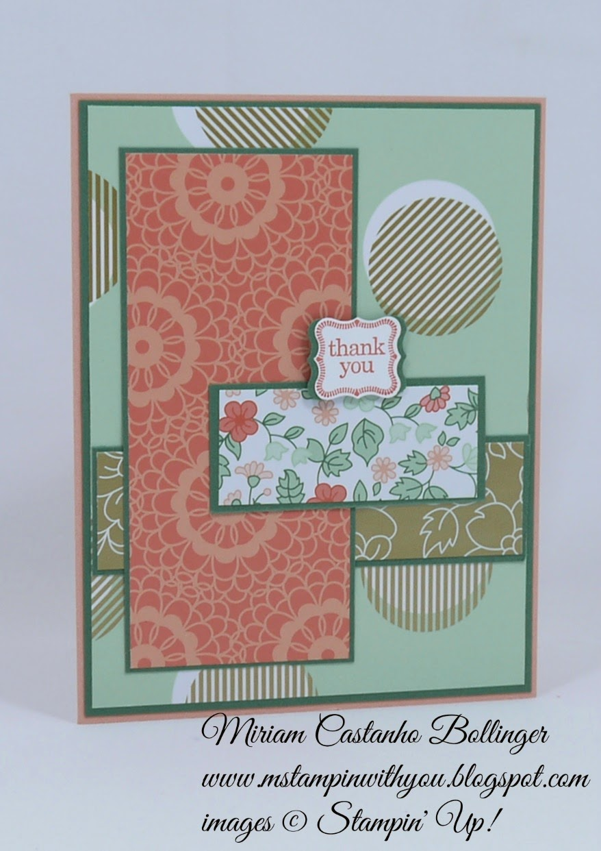 Miriam Castanho Bollinger, #mstampinwithyou, stampin up, demonstrator, dsc121, thank you, gold soiree specialty dsp, petite curly label, su