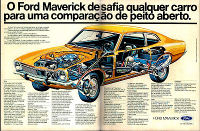 propaganda Ford Maverick - 1977.  propaganda anos 70. propaganda carros anos 70. reclame anos 70. Oswaldo Hernandez..