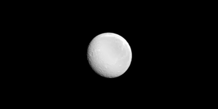 Saturn's moon Rhea. Credit: NASA/JPL-Caltech/Space Science Institute