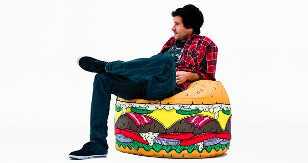 burger bean bag from woouf