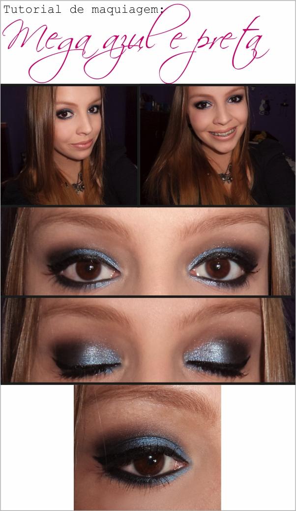 Maquiagem para madrinhas azul e preta