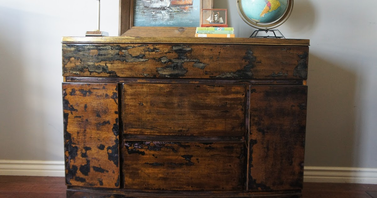 European Paint Finishes Vintage Weathered Dresser