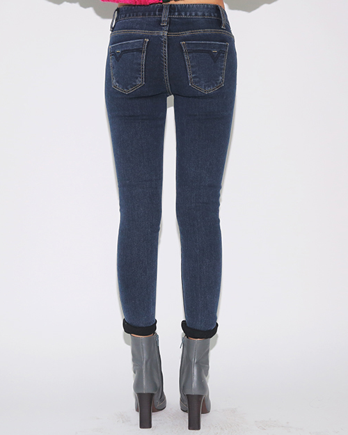 Slightly Distressed Skinny Fit Jeans