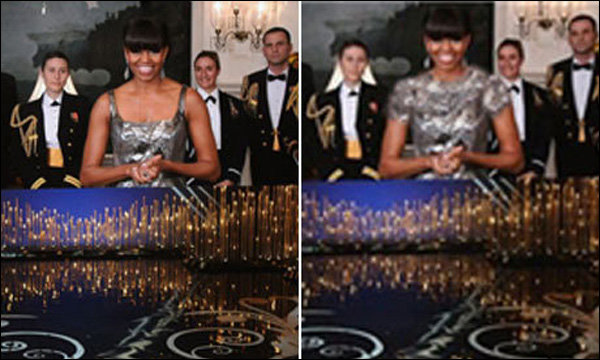 LA PHOTO DE MICHELLE OBAMA MODIFIÉE PAR L'IRAN AUX OSCARS