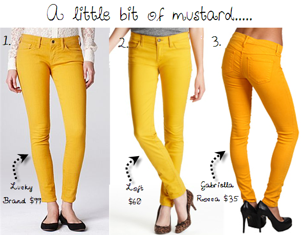 Simple Mustard Yellow Cotton Dafne Caracas Straight Leg Pants Mustard Skinny