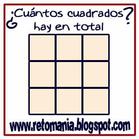 Acertijos, Acertijos matemáticos, Retos matemáticos, Desafíos matemáticos, Problemas de lógica, Problemas para pensar, Descubre el número, Cuál es el número que falta, ¿Cuántos cuadrados hay?