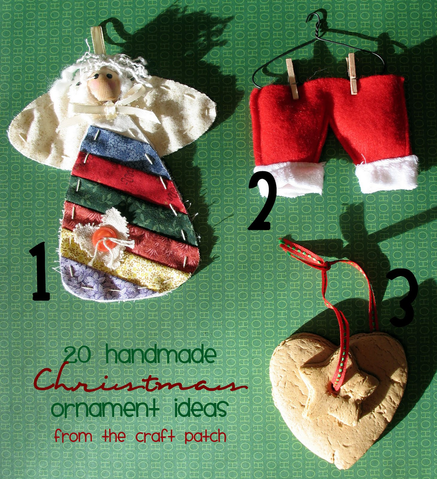The Craft Patch: Twenty Handmade Christmas Ornament Ideas